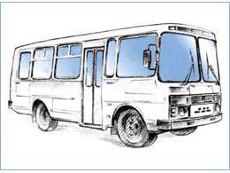 разукрашивать автобусы пазики картинки парке барнауле