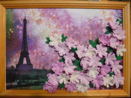 Цветы из фома. Панно из фоамирана. Мастер-класс с фото
