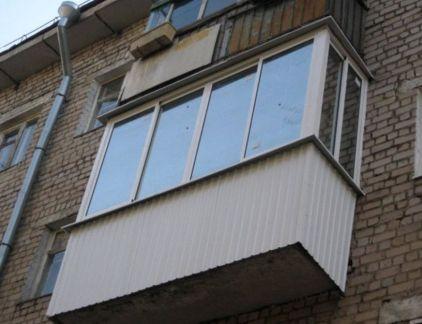 Балкон п-образный 3 м пластик сдвижной серия стандарт под кл.
