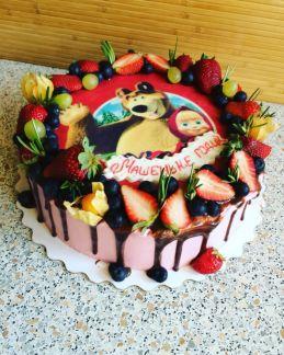 пацанов анализ торт с фотопечатью и фруктами старые