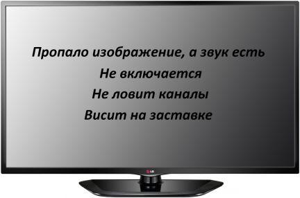 Телевизор пропала картинка а звук есть