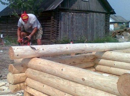 Деревянный сруб своими руками! - YouTube