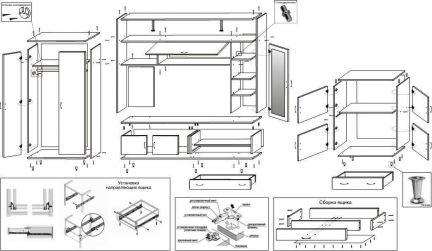 Дения 3 стенка инструкция по сборке