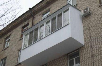 Обшивка балконов / остекление балконов / услуги пушкино.