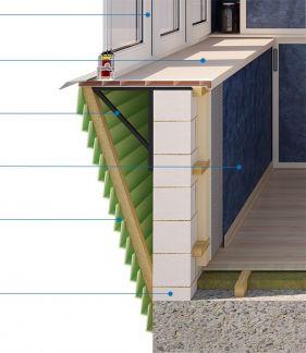 Деревянное остекление балконов с выносом. - цены на пластико.