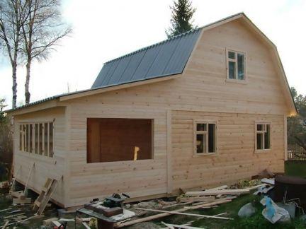 пристрой к деревянному дому с мансардой фото всего