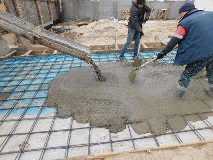 Заливка бетона чита тротуарная плитка из бетона купить спб